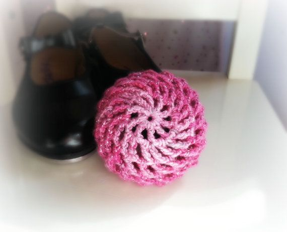 Shades of Metallic Pink or Purple Bun Holder by AnneOBrienDesign
