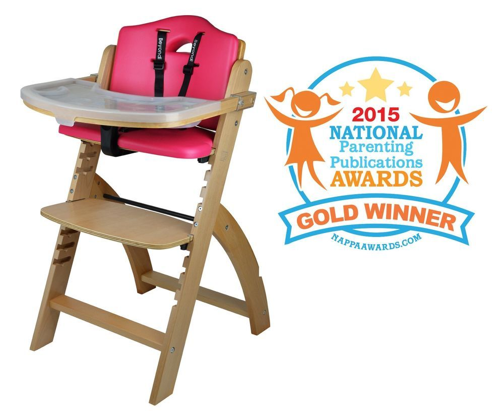 Baby Wooden High Chair Toddlers Dining Chair All Ages Quick