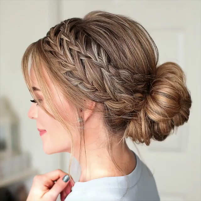 Photo of Waterfall French Braid Low Bun 🎥