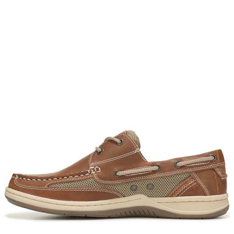 90633c61387603 Margaritaville Men s Anchor 2 Eye Boat Shoes (Tan)