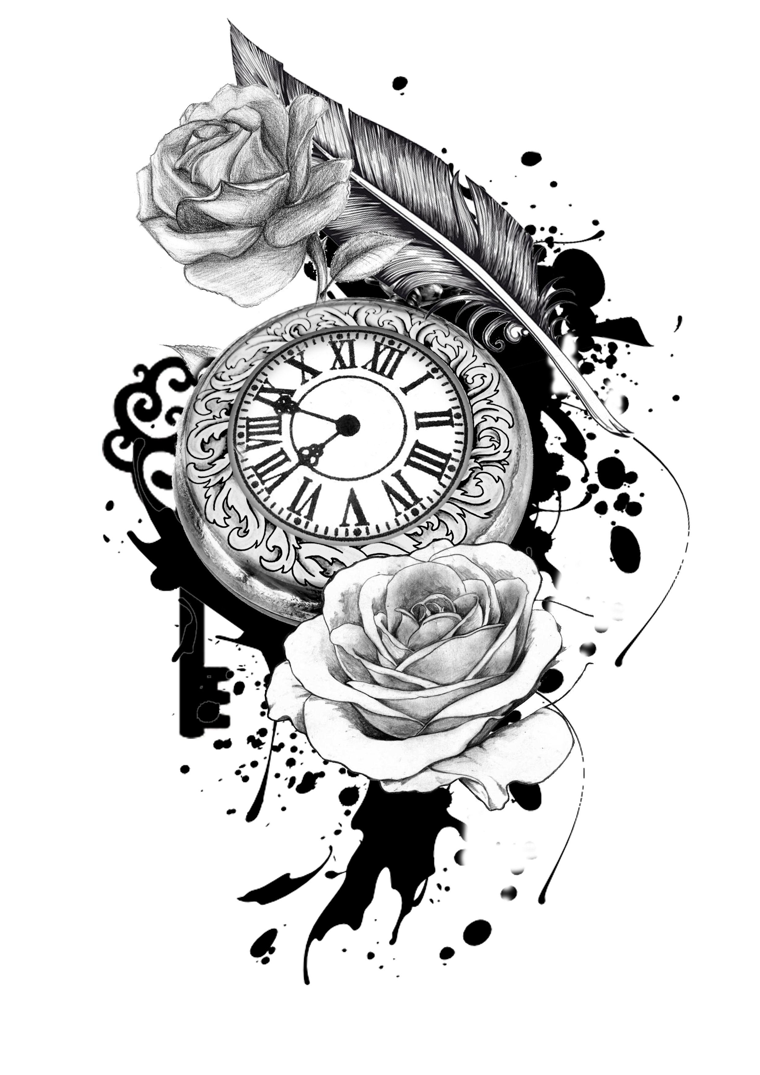 Tatto Yhh Pinterest Tatuajes Tatuaje Reloj De Bolsillo Y
