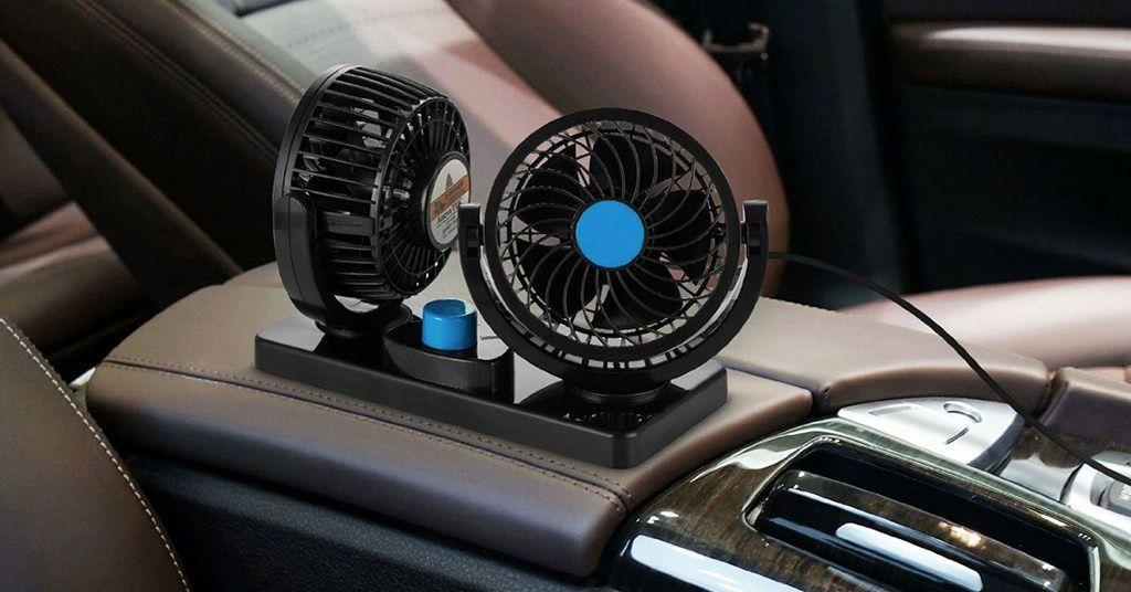 AboveTEK Dual Head Car Fan iti racoreste masina imediat