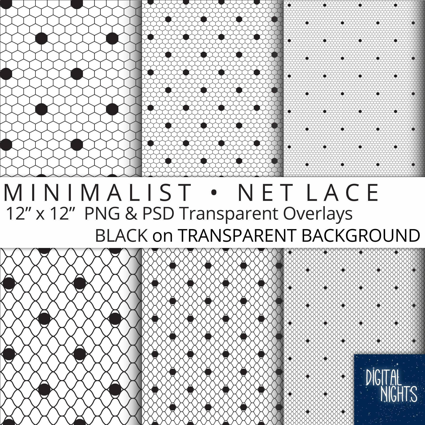 a94379922f23c Minimalist - Net Lace Dot Transparent Overlays - Black on ...
