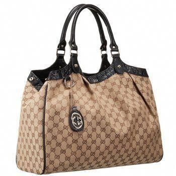 1be40e7f5494 Gucci Sukey Large Tote Black Trim Beige Fabric #Chanelhandbags  #Guccihandbags