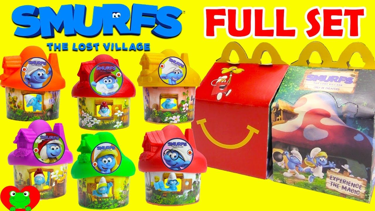 2017 Smurfs The Lost Village Mcdonald S Happy Meal Toys Full Set Happy Meal Toys Happy Meal Mcdonalds Happy Meal