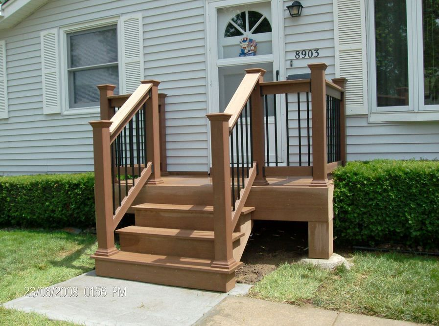 Small Front Porch Ideas For Mobile Homes Home Depot Stair Treads   Prefab Stairs Outdoor Home Depot   Mobile Homes   Stair Stringer   Patio   Precast Concrete Steps   Deck Railing
