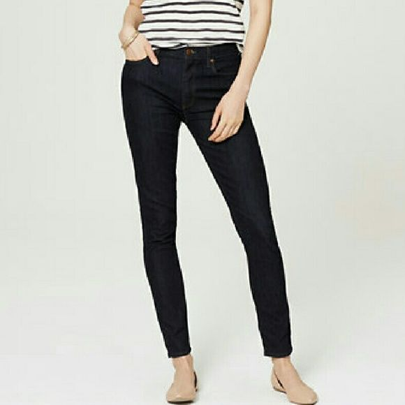 Loft Modern Skinny Jeans Petite The darker the wash the slimmer you look. These Loft Dark Denim jeans make everything look great. The perfect go to for spring and summer evenings. The stretch makes them super comfortable and snug. LOFT Jeans Skinny