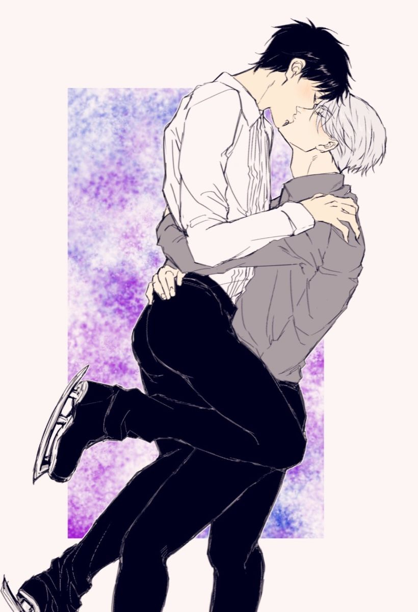 Victor x Yuuri - Yuri!!! on Ice by 由名 とむ on pixiv