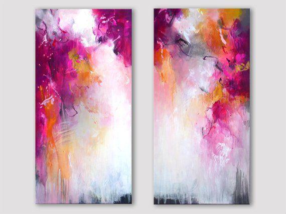 Paar Original abstrakte Gemälde Beere-Tönen mit Gold auf Leinwand,  #Abstrakte #auf #BeereTönen #Gemälde #Gold #Leinwand #Mit #Original #Paar,  #DiyAbschnitt, Diy Abschnitt,