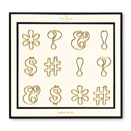Use code 10101 for 10% off these ADORABLE kate spade new york paperclips - expletives