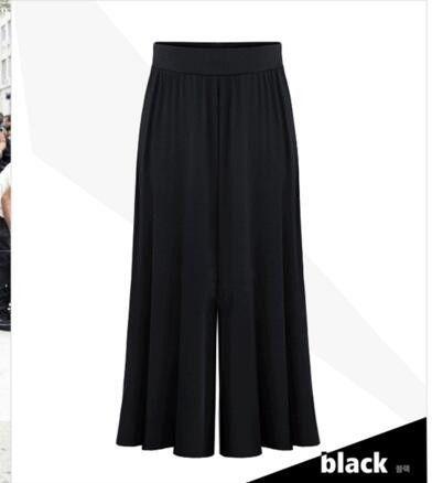 MONBEEPH 2017 new arrival Plus size XL-6XL Summer Women Wide Leg Loose Dress Pants Female Casual Skirt Trousers Capris Culottes
