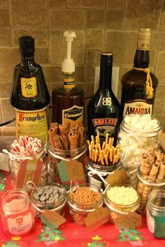 Hot Chocolate Bar * This would be perfect on the back of a wagon while putting up lights in your neighborhood :)