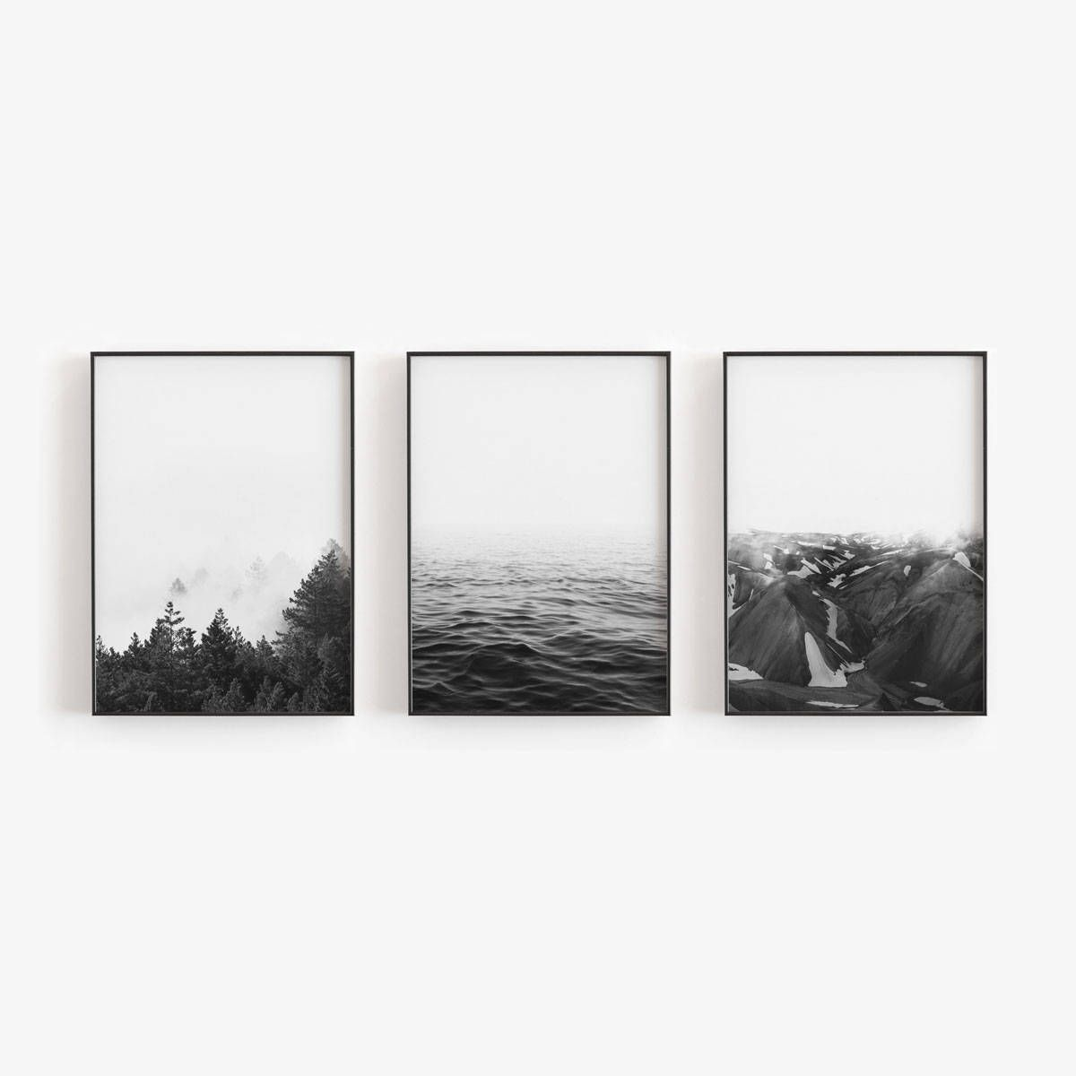 Black and White,Prints,Set of 3 Prints,Scandinavian Prints,Black and White Prints,Large Wall Art,Printable Art,Wall Art Prints,Nature Prints is part of Large Living Room Black - heartsincolors Thank you for visiting our shop