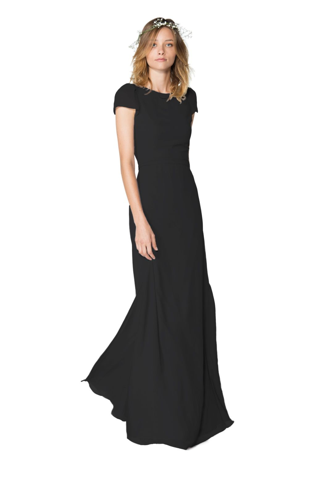 Black dress for wedding party  Shop Joanna August Bridesmaid Dress  Kimberly Long in Chiffon at