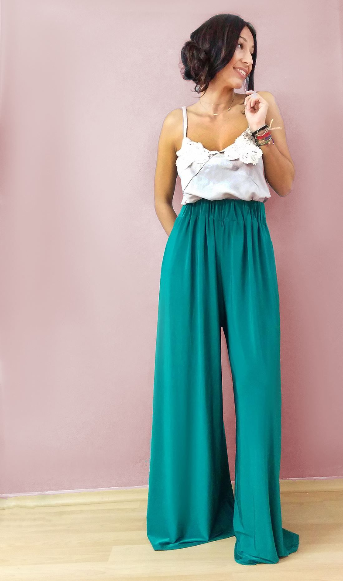 You look super CUTE when you  SMILE!!!!!   CEZZANE top & ALADIN trousers  SPECIAL OFFER ** N O W 130€ BOTH ! ! ! ! ** — with Eleni Malliou. Tags: madame shou shou