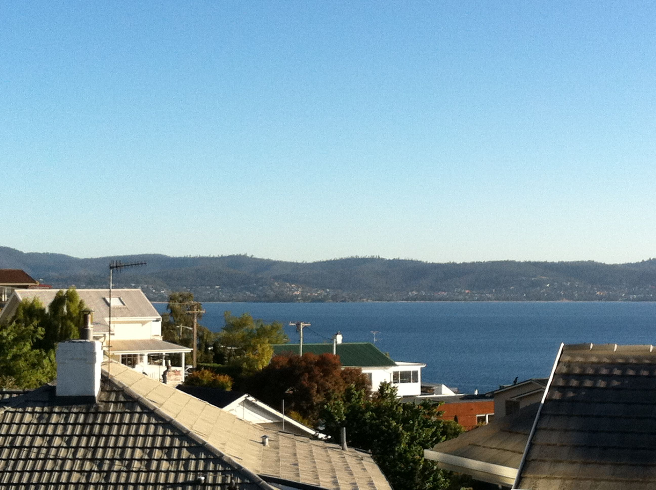 The sun does shine in Hobart. Who would have thought?