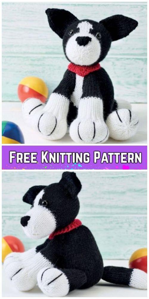 Knit Amigurumi Dog Toy Sofites Free Knitting Patterns Lana