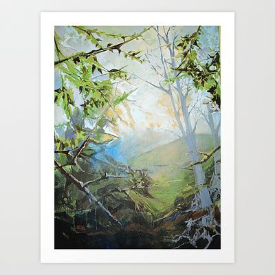 Misty Woods Art Print by Meggin O'Krepki - $19.76