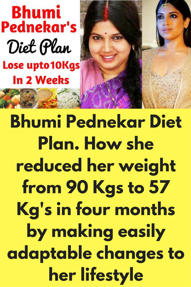 bhumi pednekar diet plan for weight loss