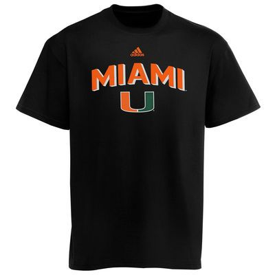 Miami Hurricanes Adidas Shoes | adidas Miami Hurricanes Big Gamer T-Shirt - Black