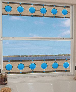 Loving this Roswell Blue Stained Glass Border - Set of Two on #zulily! #zulilyfinds