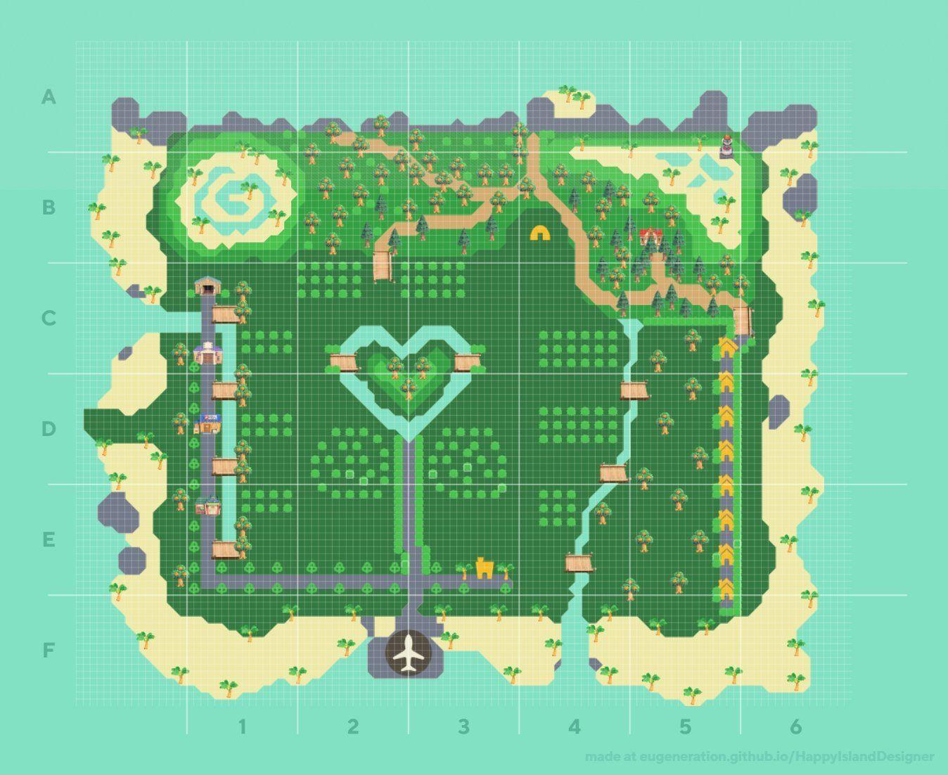 Happy Island Designer Guide Animal Crossing New Horizons Map Planner Crossingcharm Acnh Island Des In 2020 Animal Crossing New Animal Crossing Animal Crossing Qr