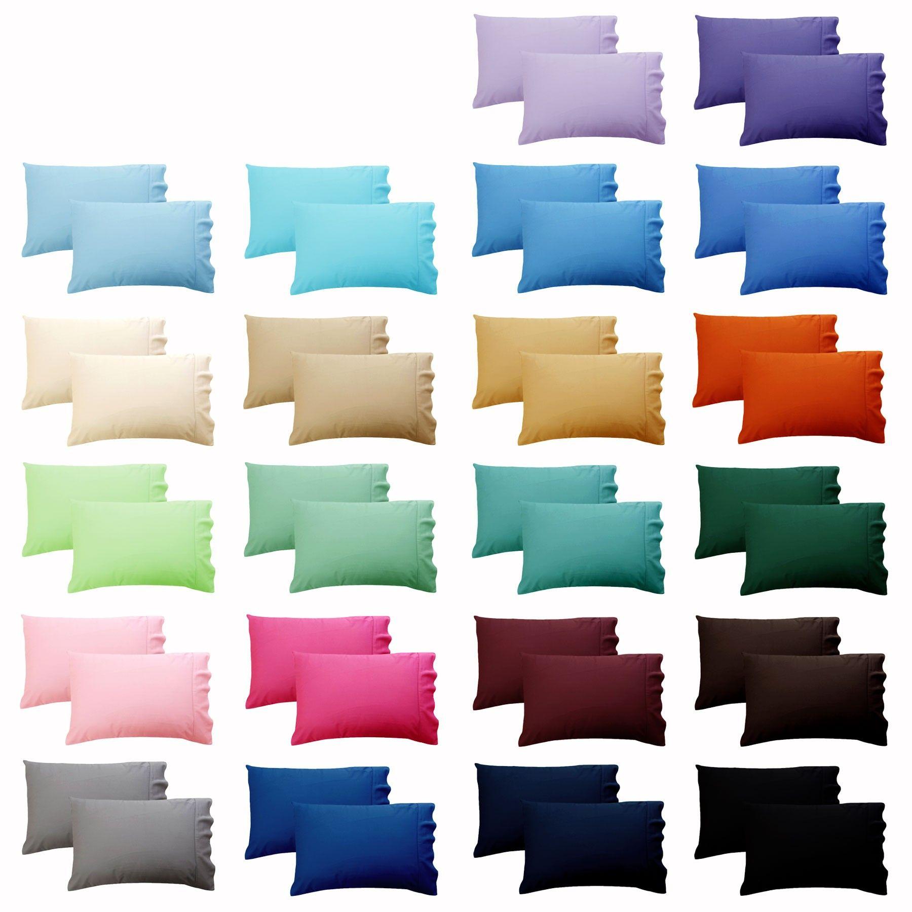 Pair Pillow Cases Poly Cotton Standard