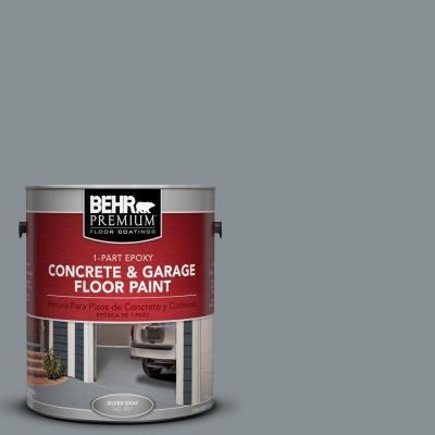 Behr Premium 1 Gal Pfc 47 Raw Steel 1 Part Epoxy Satin Interior Exterior Concrete And Garage Floor Paint 90001 The Home Depot Garage Floor Paint Painted Floors Exterior Paint