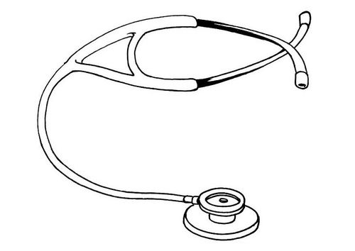 Coloring page stethoscope Community