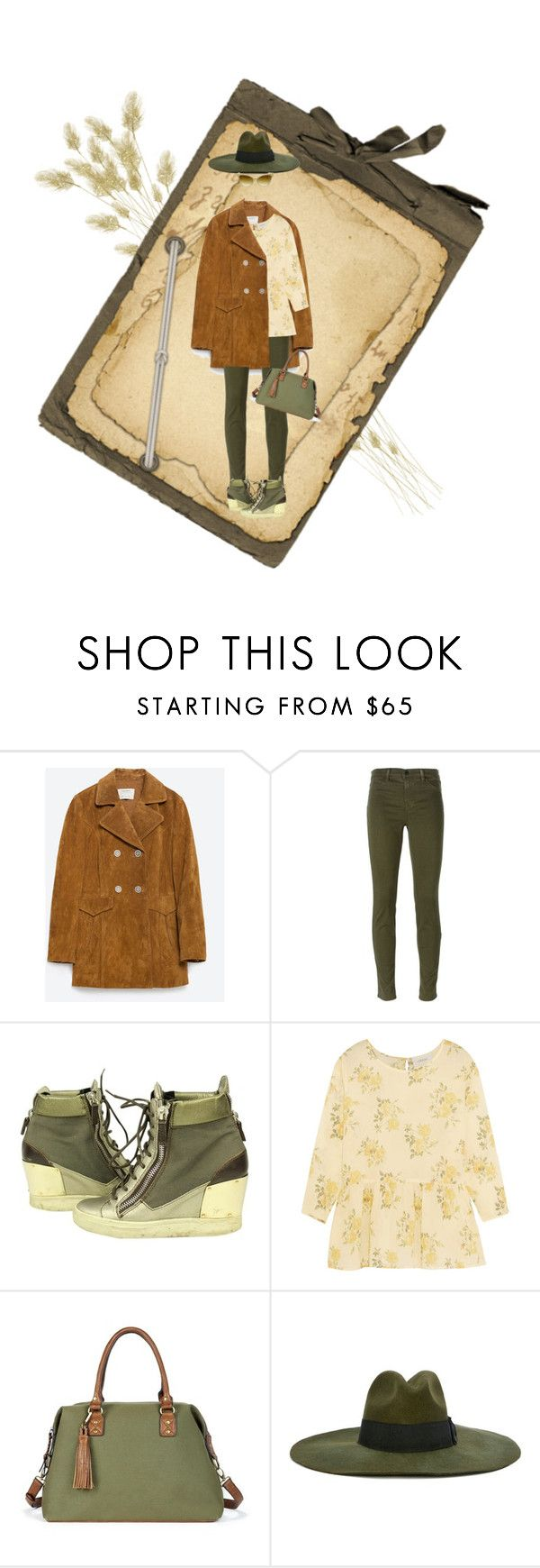 """""""Tan/Army Green"""" by petalp ❤ liked on Polyvore featuring Zara, J Brand, Giuseppe Zanotti, The Great, Sole Society, Diesel, women's clothing, women, female and woman"""
