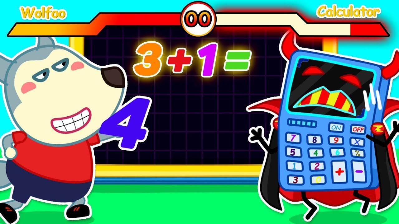Wolf Family Math Contest Wolfoo Vs Super Calculator Learn Numbers Learning Numbers Youtube Videos For Kids Funny Cartoon Gifs