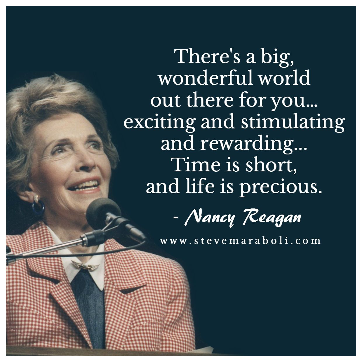 Rest in peace Nancy Reagan Nancy reagan quotes