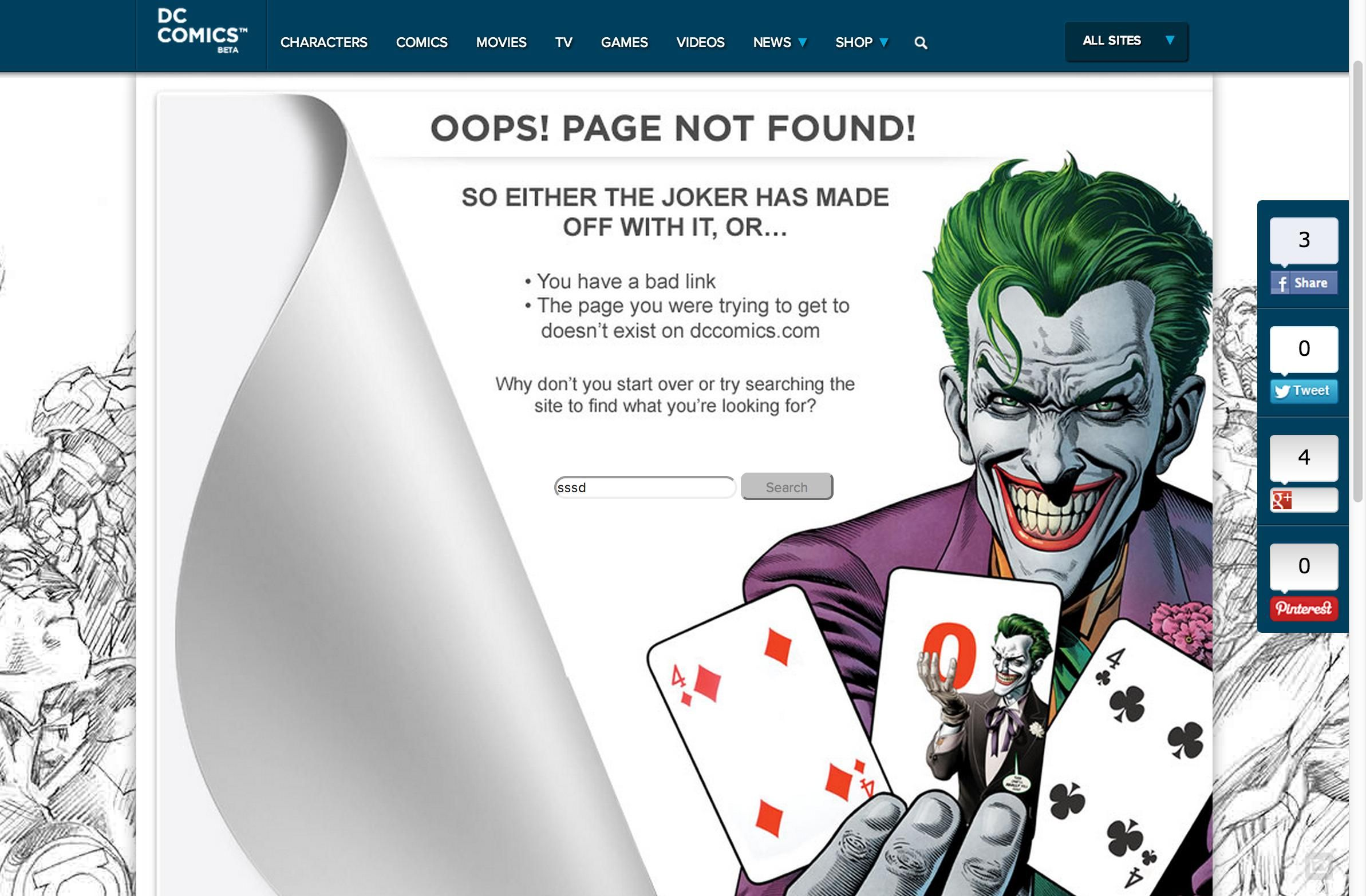 12 inspired 404 pages that make falling into a hole fun