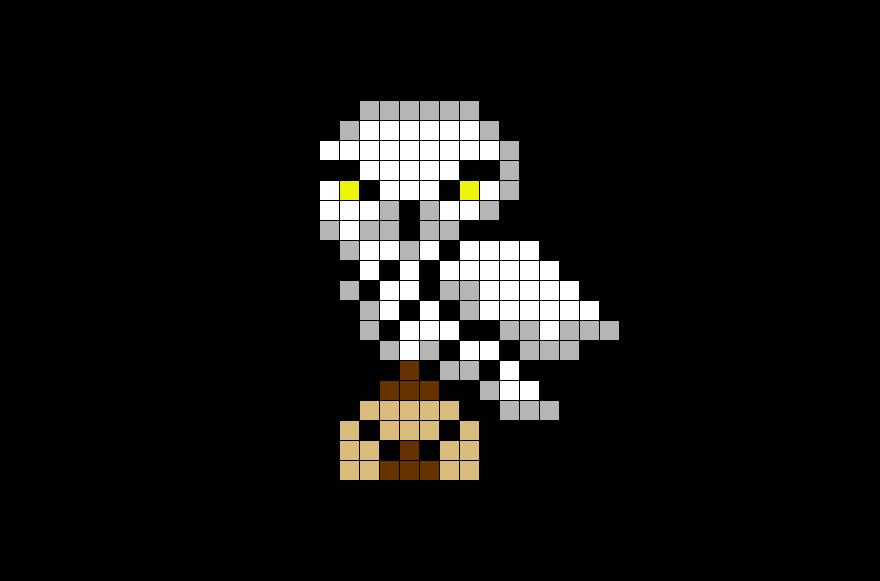 Hedwig Harry Potter Pixel Art Harry Potter Hedwig Pixel Art Pattern Pixel Art