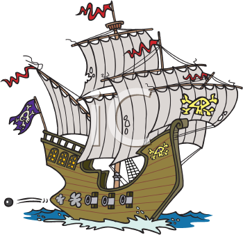 Iclipart Downloadable Royalty Free Clipart Images Photos Web Graphics Animations Sounds And Fonts Cartoon Pirate Ship Royalty Free Clipart Pirate Crafts