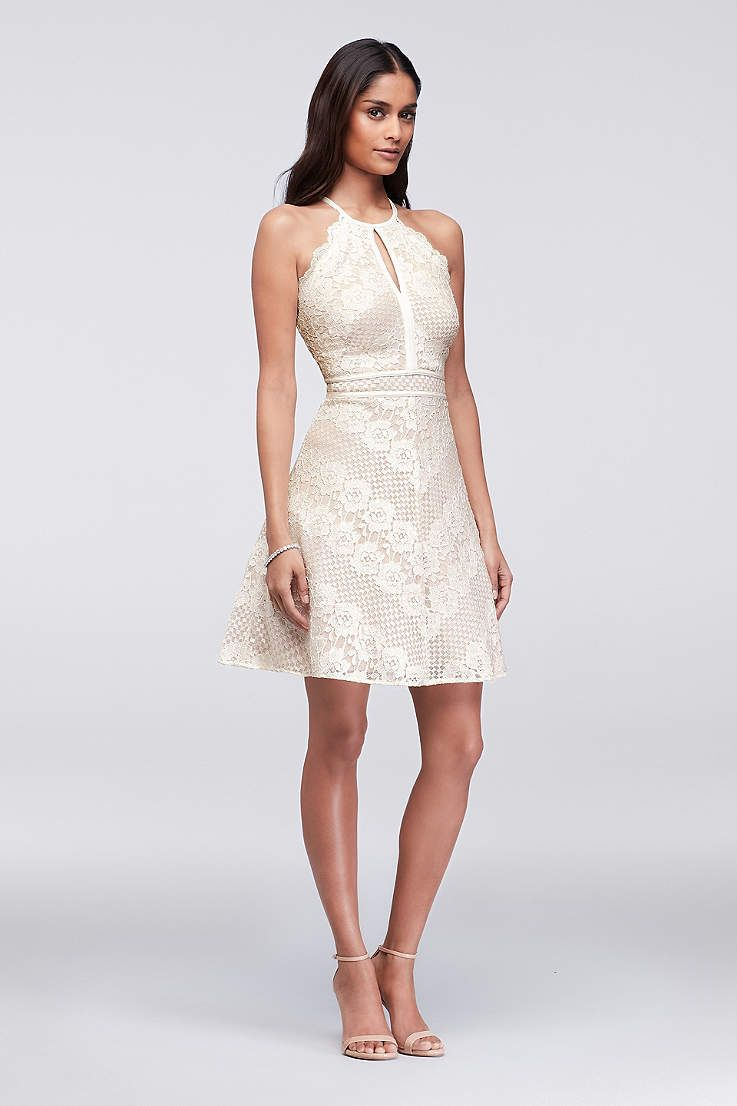 Little white wedding dress  View Short Morgan and Co Dress at Davidus Bridal  short wedding