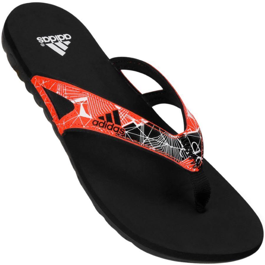 Chinelo Adidas Calo 5 gr masculino Preto / Vermelho chinelo e