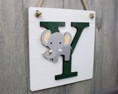 Safari Animal Monogram, Baby Animals Nursery Decor, Baby Room Door Monogram … … Baby room