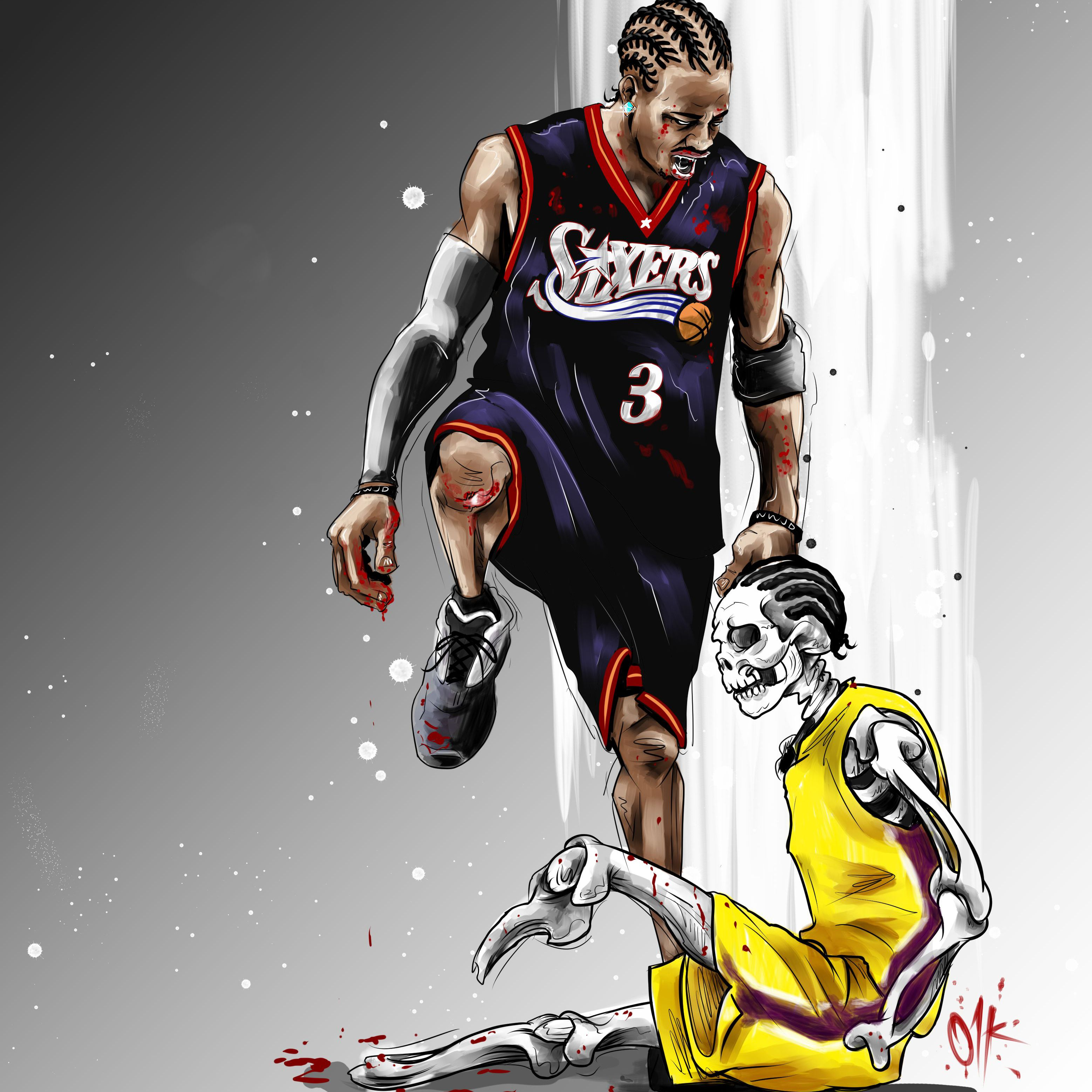 Allen Iverson Stepover In 2020 Allen Iverson Nba Basketball Art Nba Pictures