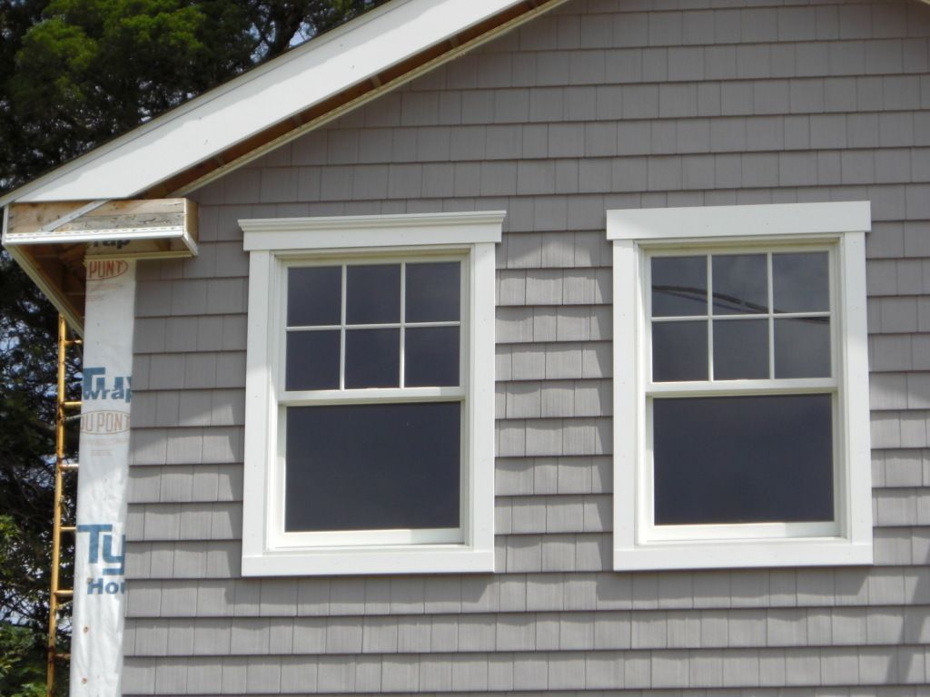 Siding Progress  Window trim exterior, Exterior trim, Outdoor
