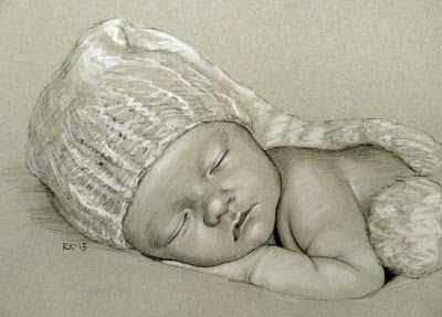Rita Kirkman's Daily Paintings: New Year Baby (Pencil ...