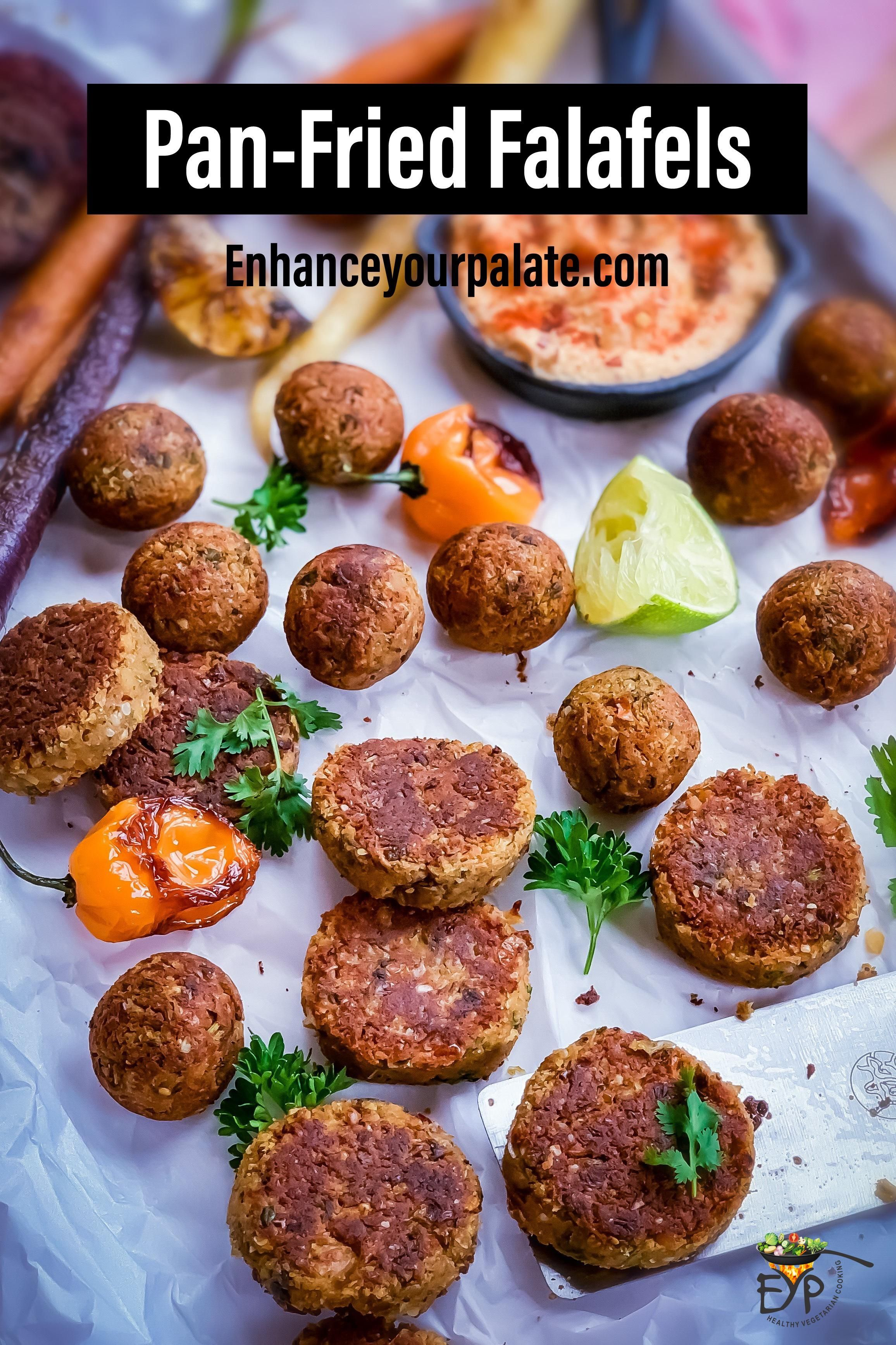Photo of Pan-fried Falafel recipe full with herb-y and zesty flavors modified to make fal…