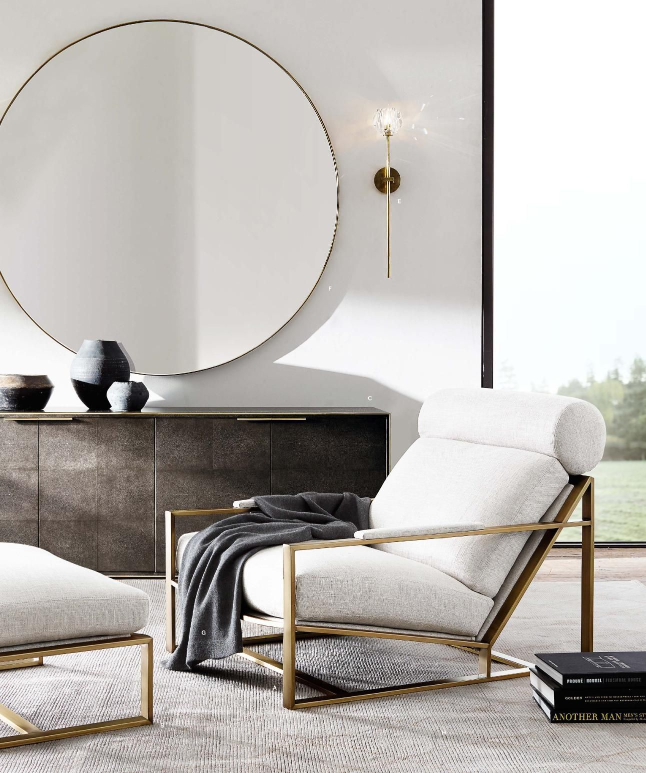 Rh modern sideboard and chair everything clean and elegant