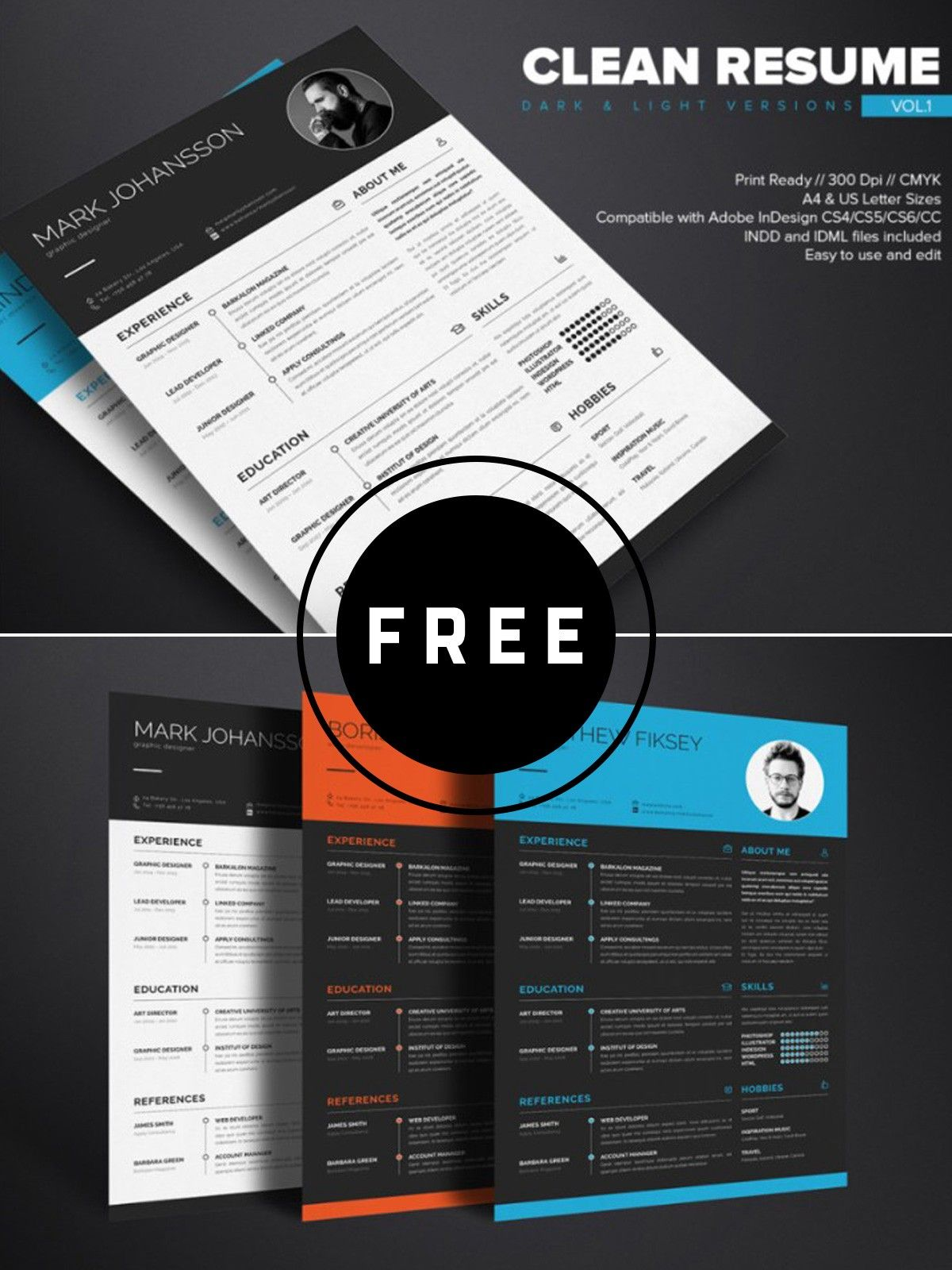 100 free best resume templates for 2019