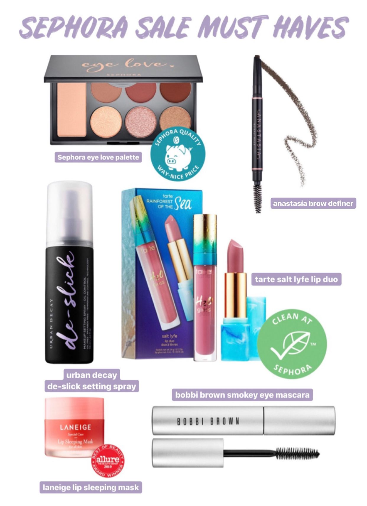 Sephora Sale My Beauty Must Haves EVERYTHING ERZ in