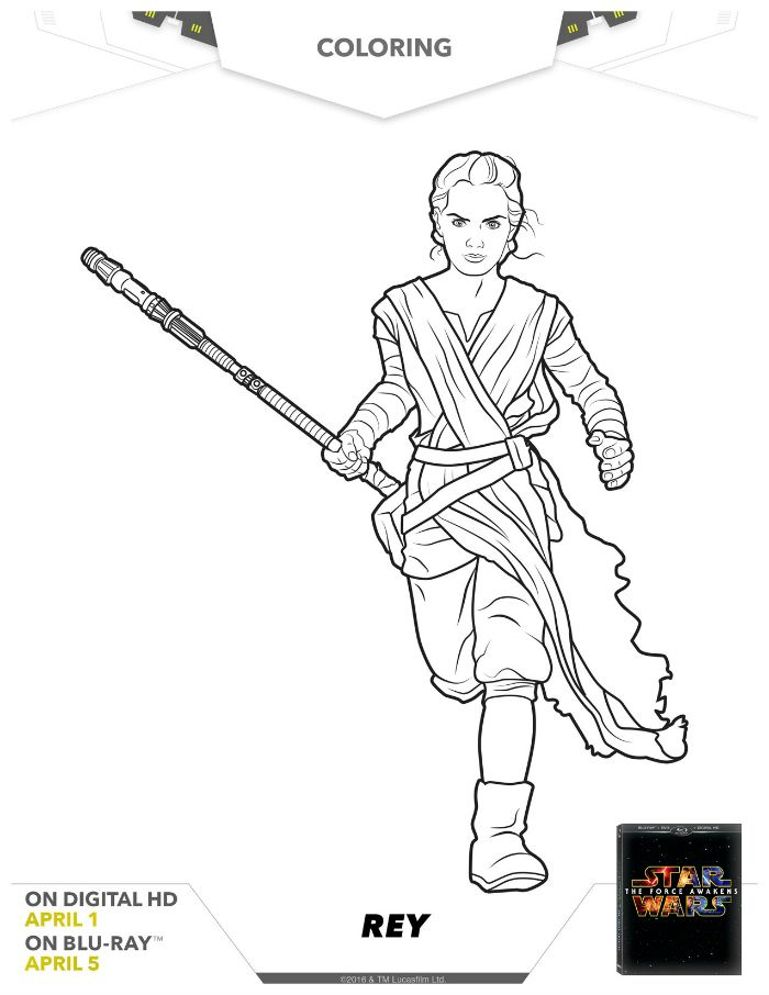 Star Wars Rey Coloring Page Language Tools Coloring Pages Star