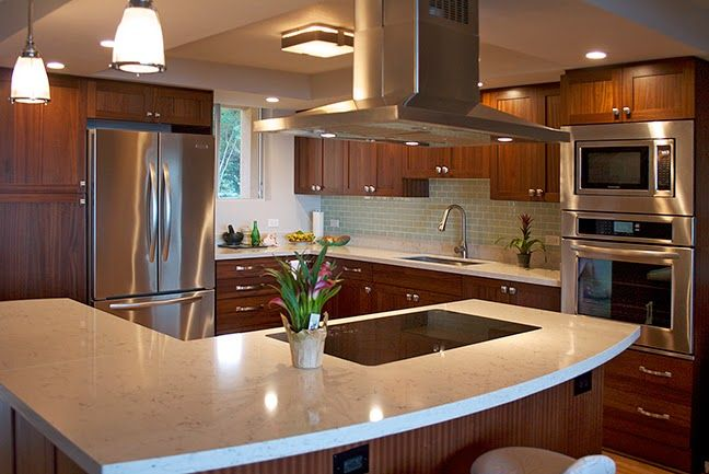 Best Gleaming Kitchen Design By Dtc W Solid Sapele Cabinets 400 x 300
