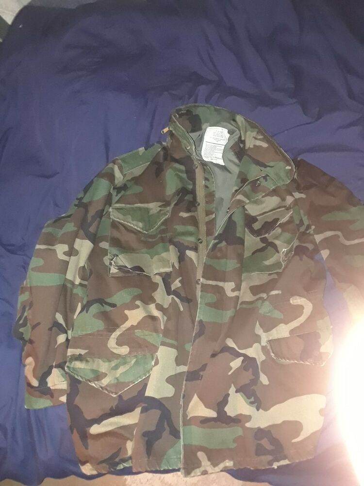 8b27fcfbe9147 Army M65 Field Men's Jacket Large Long Woodland Camouflage #fashion # clothing #shoes #accessories #mensclothing #coatsjackets (ebay link)