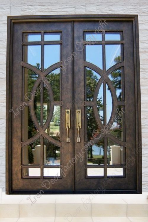 Main Features Air Tight Seal Around Door Frame And Glass Panel 2 Thick By 6 Wide Door Panel Iron Door Design Entrance Door Design Custom Entry Doors