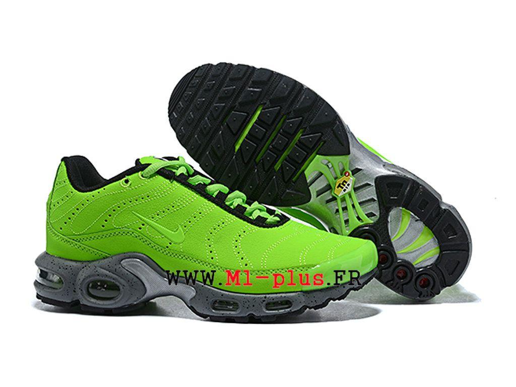 info for 58b80 a6168 Nike Air Max Plus TN 2019 Premium Chaussures de basket Homme Vert noir  815994-700